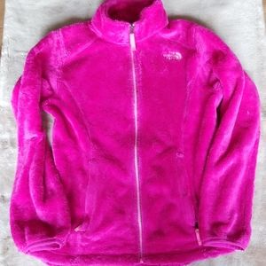 The North Face pink soft fuzzy full zip